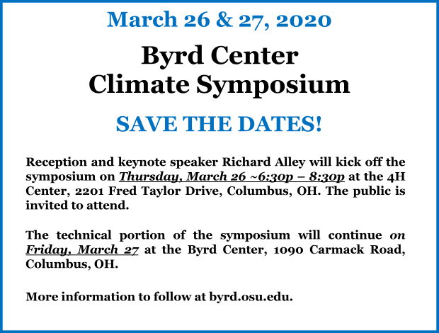 Byrd Center Climate Symposium 2020