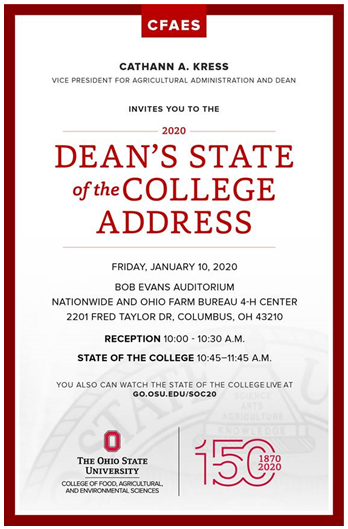 CFAES State of the College Address 2020