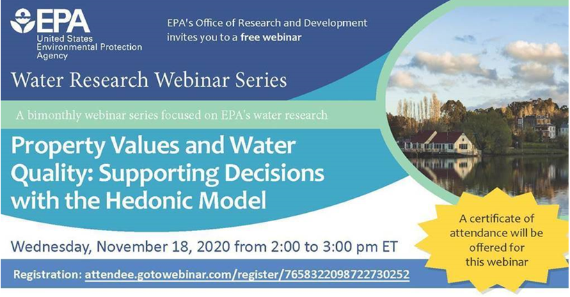 EPA's Safe and Sustainable Water Resources Webinar Series