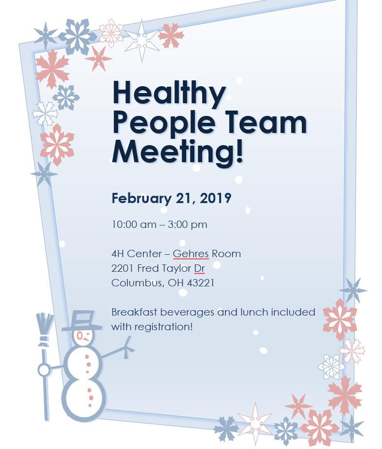 Healthy People Team Meeting