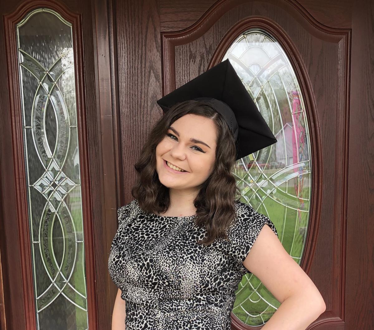 Marlee Stollar on graduation day