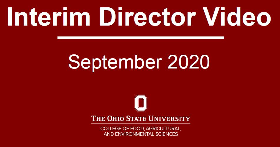 Interim Director Video 2020-09