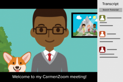 Live captioning in CarmenZoom