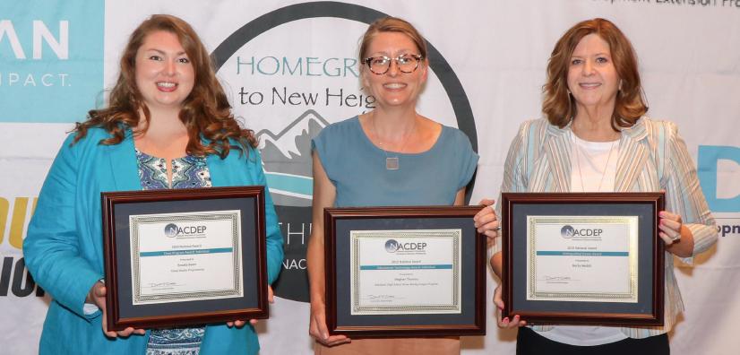 Brooke Beam (Cross-Program Award - Individual); Meghan Thoreau (Educational Technology Award - Individual); Becky Nesbitt (Distinguished Career Award)