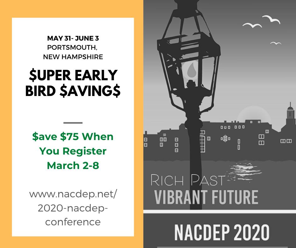 NACDEP 2020 Super Early Bird Registration