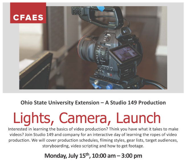Video Production Workshop July 15
