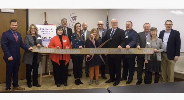 Caldwell Family Health Center ribbon cutting