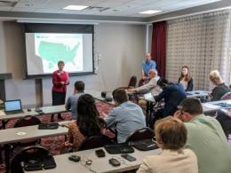 Myra Wilson and Eric Romich discuss Extension's involvement in workforce development.