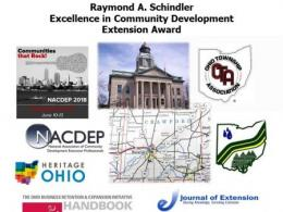 Raymond A. Schindler Excellence in Community Development Extension Award 2019